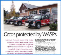 News article on WASPS Fire Apparatus
